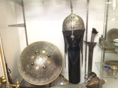 helmet and shield